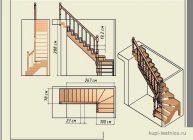 Как рассчитать межэтажную лестницу в доме