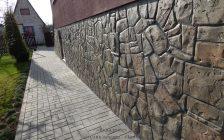 Имитация камня на фасаде дома своими руками