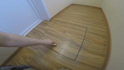 Люк в полу под ламинат на фанеру