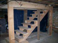 Лестница в погреб своими руками из дерева